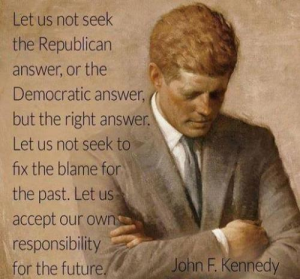 JFK assume responsibility for the future